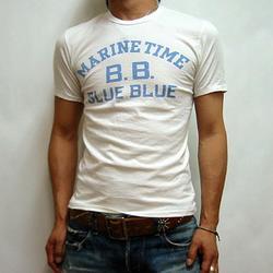 BLUE BLUE マリンタイムS/SスーピマTシャツ