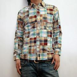 GAIJIN MADE パッチワークボタンダウンL/Sシャツ