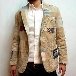 ハリウッドランチマーケット チノレジメンパッチワークジャケット