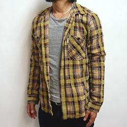 GAIJIN MADE(ガイジンメイド)モールフランネルLSシャツ
