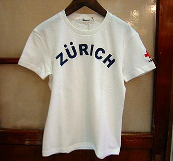 """ALL ORDINARIES A/Oオリジナル半袖Tシャツ""""ZURICH""""<br />"""