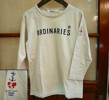 "ALL ORDINARIES ラグラン7分袖Tシャツ""ORDINARIES"""