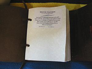White Feather ターコイズレザージャーナルノート