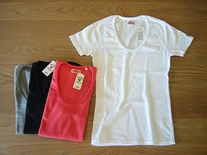 スパンフライスUネック レディスS/S Tシャツ