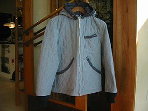 ブルーブルー リサイクルキルトフードジャケット