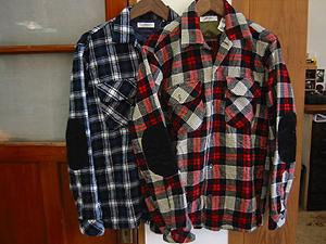 ハリウッドランチマーケット ウールチェックフラップシャツ