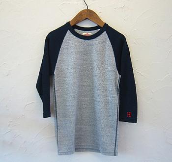 HRM 2トーンストレッチラグラン七分袖Tシャツ.jpg