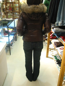 DUVETICA fallwinter2007/08 women collection DOWN JAKET D03004 adhara  後ろから